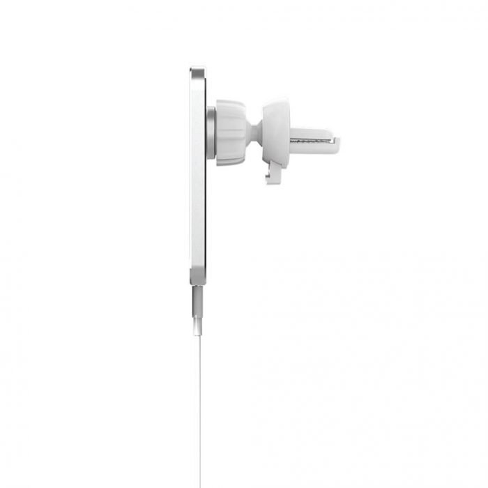 light white Aluminum Magsafe charger for car