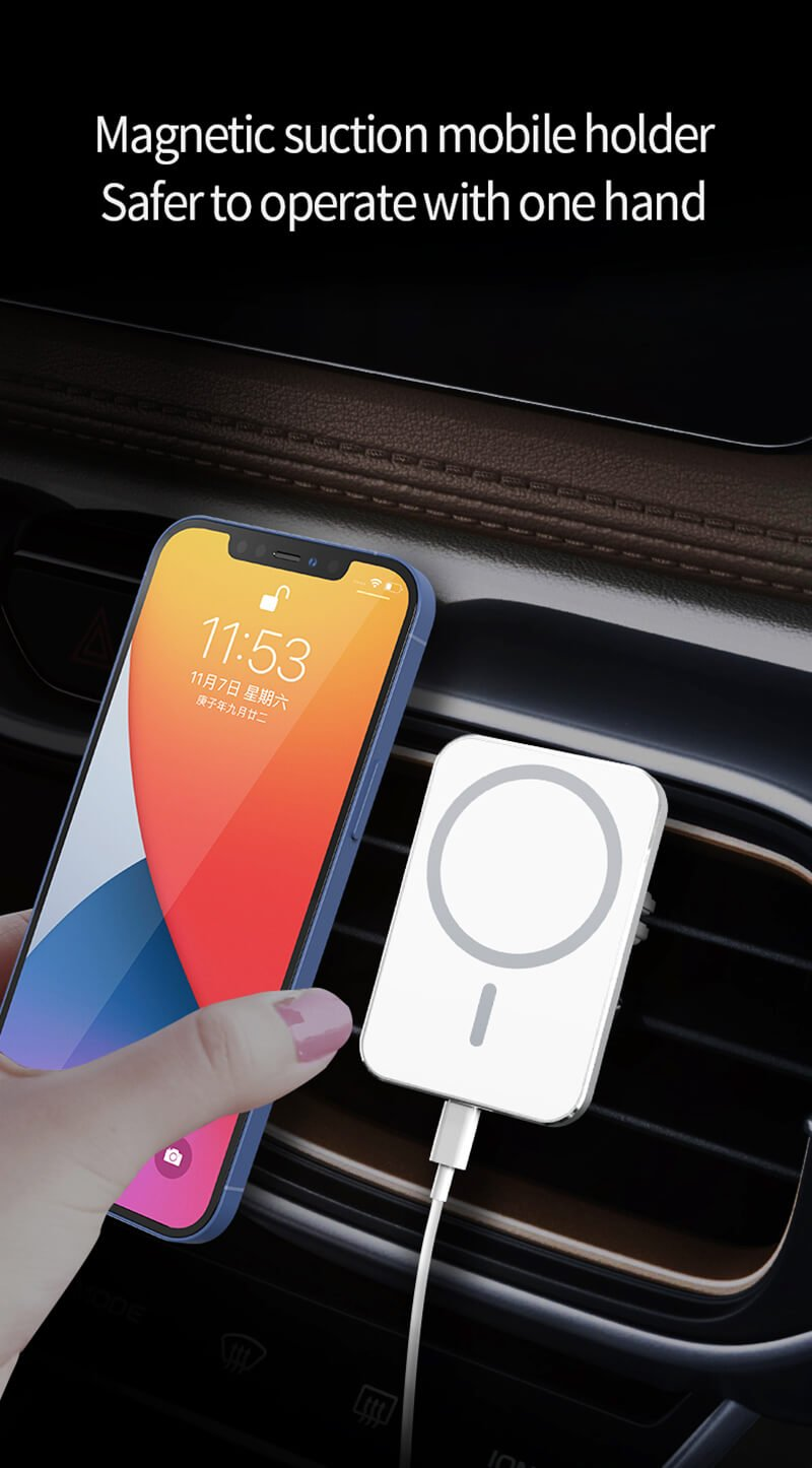 Magsafe wireless car charging mount