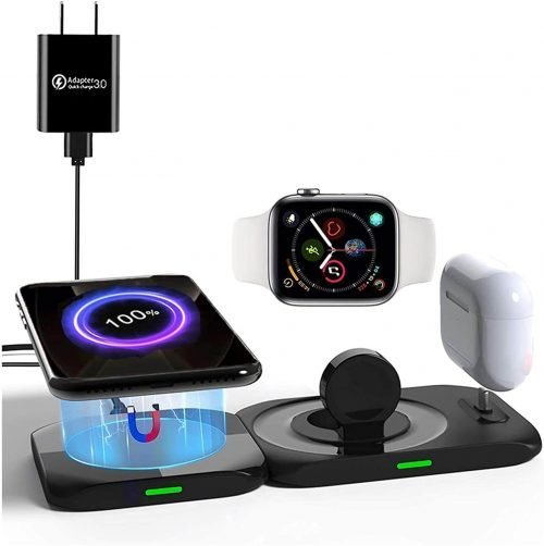magsafe 4 in 1 charger duo wireless charging