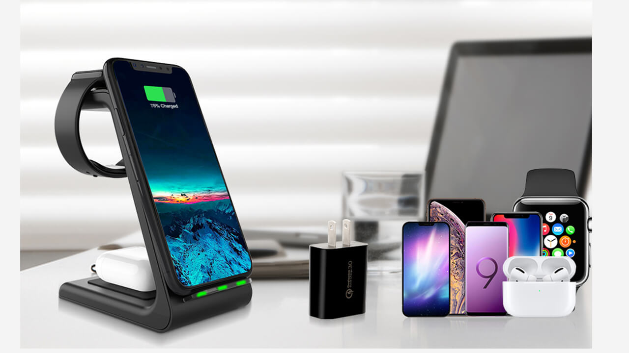 apple wireless charger station